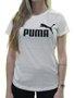 Blusinha Feminina Puma Ess Logo Manga Curta - Branco