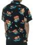 Camisa Masculina Billabong Sundays Multi Manga Curta Estampada - Preto Floral