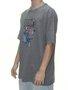 Camiseta Masculina Blunt Basica Piegeon Manga Curta Estampada - Cinza Mesclado