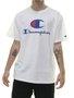 Camiseta Masculina Champion Big Logo Script INK Manga Curta Estampada - Branco