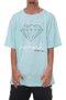 Camiseta Masculina Diamond OG Sign Tee BIG Manga Curta Estampada - Turquesa