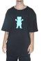 Camiseta Masculina Grizzly OG Bear Manga Curta Estampada Big - Preto