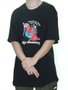 Camiseta Masculina High Bambinoz Manga Curta Estampada - Preto