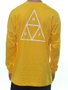 Camiseta Masculina HUF Essentials TT Manga Longa Estampada - Amarelo