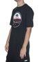 Camiseta Masculina Hurley Silk California Manga Curta Estampada - Preto