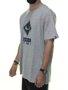 Camiseta Masculina Session Logo Classic Manga Curta - Cinza Mesclado