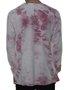 Camiseta Masculina Volcom Deadly Stones Manga Longa - Rosa/Tie Dye