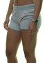 Shorts Feminino Hurley Malha All de Moletom - Cinza Mesclado