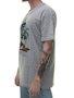 Camiseta Masculina Surfly Skull Manga Curta - Cinza Mesclado