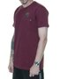 Camiseta Masculina Billabong Team Pocket Estampada Manga Curta - Vinho