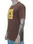 Camiseta Masculina Surfly Granada Abacaxi Manga Curta - Marrom
