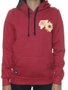 Moletom Feminino Loveboard Icon Flower Canguru Manga Longa - Bordo