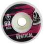 Roda Skateboard Vertical Skull 60mm com 83b de Dureza - Rosa/Preto