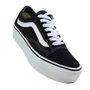 Tênis Feminino Vans Old Skool Platform palmilha feita em Eva especial - Black/White